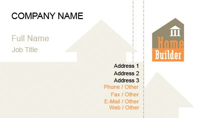 Orange and Brown Real Estate Developer Business Card Template